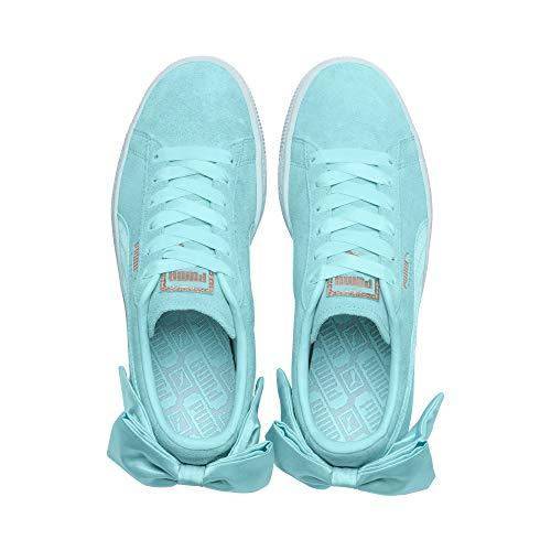 Azul Mujer Suede Bow Zapatillas Wn's Puma Para ACg7Fx