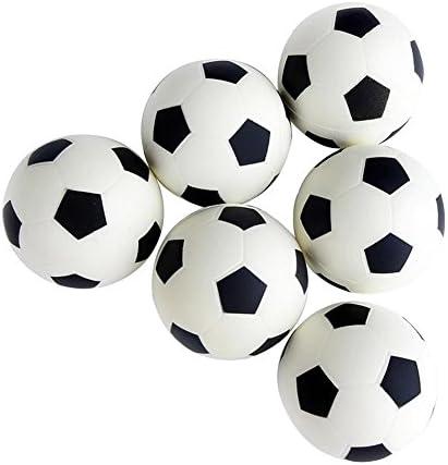 Leisial™ 6pcs Juguete para Niños Mini Fútbol Espuma Mesa Futbolín Juego Deportes Estrés Exprimir de Las Bolas Juego Deportes Educativo Juguete de los Niños: Amazon.es: Hogar