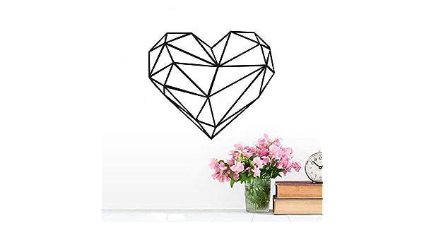 Tianpengyuanshuai Etiqueta de la Pared en Forma de corazón geométrica decoración del hogar Sala de Estar Vinilo Arte calcomanía Simple Etiqueta Creativa Etiqueta de la Pared extraíble 64x55 cm: Amazon.es: Hogar