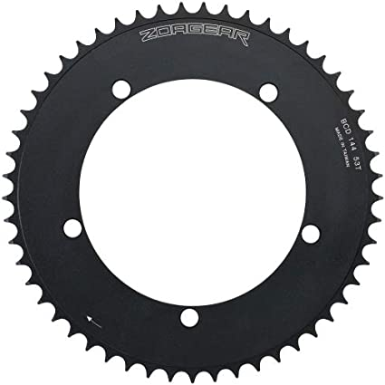 New Zoagear Single Speed Chainring 130 BCD 42 Teeth Track Fixed Gear Bike Black