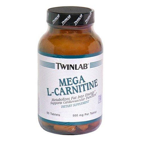 Twinlab Mega L-Carnitine 500 mg, 90 comprimés