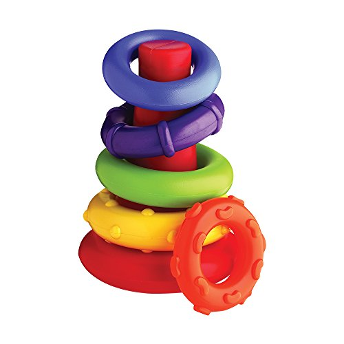 41FJPKDDoQL - Playgro4011455 Rock N Stack Toy (Rainbow) for baby infant toddler children