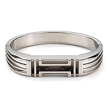 8411f750ec8 Tory Burch for Fitbit Metal Hinged Bracelet Tory Silver  Amazon.co.uk   Electronics
