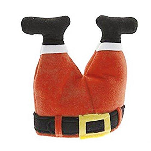Santa Hat REYO Christmas Old Man Snow Man Deer Calendar Advent Countdown Calendar Headband (red, (Plush Headband Fedora Christmas Hat)