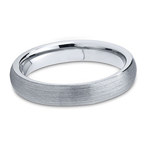Tungsten Wedding Band Ring 2mm for Men Women Comfort Fit Domed Brushed Lifetime Guarantee