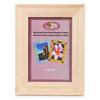 wood picture frame with real glass fits 3 12 x 5