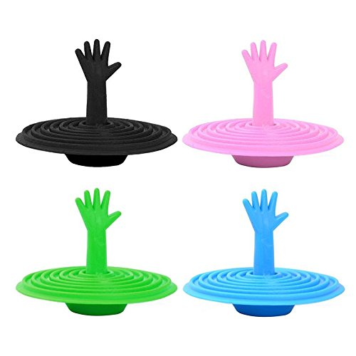 Colore casuale tappo di scarico per lavandino cucina anello cromato per lavabo lavanderia e bagno raccordi  colore casuale OPUSS