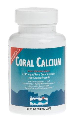 Trace Minerals Research calcium de corail, Casquettes végétariens, végétariens 60 Caps