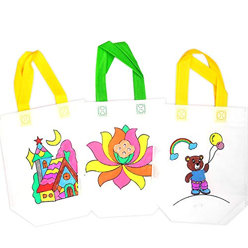 ofvsdhftgj peinture jouet, fait à la main protection de l'environneHommes peinture t bricolage Graffiti sac fourre-tout enfants peinture l'environneHommes couleur jouet- 178388
