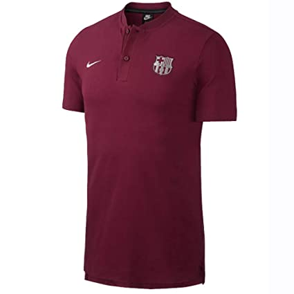 8cb73bc29 Image Unavailable. Image not available for. Color  Nike 2018-2019 Barcelona  Authentic Polo Football Soccer T-Shirt Jersey ...