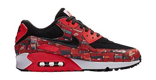 Nike Sneaker Uomo Black / Bright Crimson-white