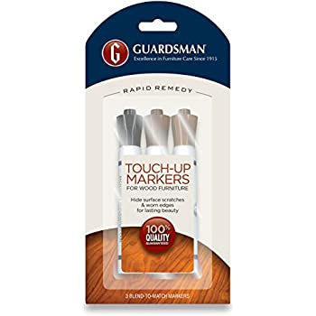 furniture touch up markers. guardsman wood touch-up markers - 3 colors and repair scratches furniture touch up r