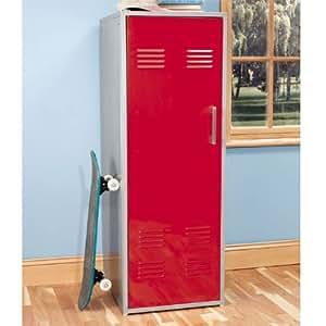 Powell 517-XXX Teen Trends Storage Locker Color: Red