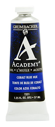 Grumbacher Academy Oil Paint, 37 ml/1.25 oz, Cobalt Blue (Academy Oil Color Paint)