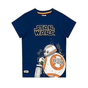 Star Wars Boys' D-O and BB8 T-Shirt