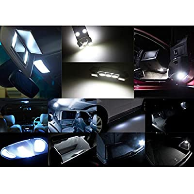 X AUTOHAUX 22pcs Canbus White Car Interior Dome Map Reading/Cosmetic Mirror/Glove BoxLED Lights/License Plate Bulbs Kit for BMW X5 E53 2001-2006: Automotive