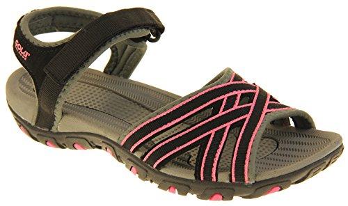 Chaussures Noir Femmes Gola et Rose Sandales Randonnée De n6z88fp