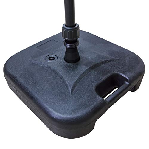 LOKATSE HOME Patio Outdoor Umbrella Base Stand Weight, Plastic Square Base Water Filled for Patio Umbrellas (Black)