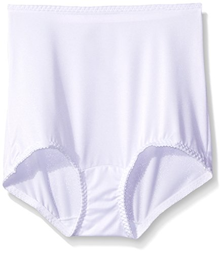 Nylon White Brief - Hanes Shapewear Women's Light Control 2 Pack Shaping Brief, White/White, X-Large
