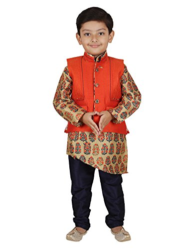 AJ Dezines Kids Indian Wear Bollywood Style Kurta Pyjama Waistcoat for Baby Boys by AJ Dezines (Image #5)
