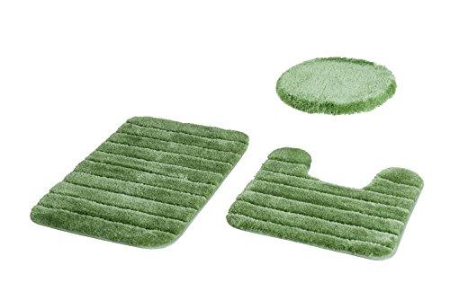 Baltic Linen Luxury Nylon 3 Piece Bath Rug Set, Avocado