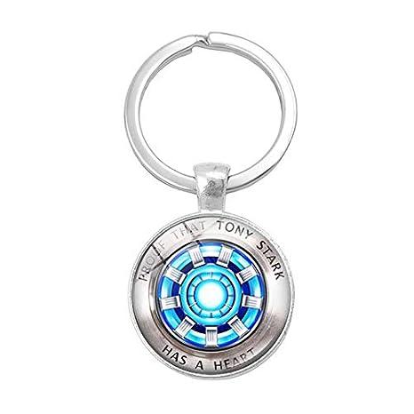 Llavero de cristal con forma de cúpula de Iron Man, con ...