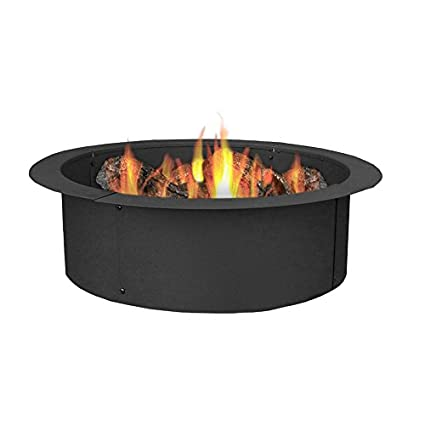 Sunnydaze 33 Inch Outside X 27 Inch Inside Fire Pit Ring Liner Diy Above Or In Ground Durable Steel