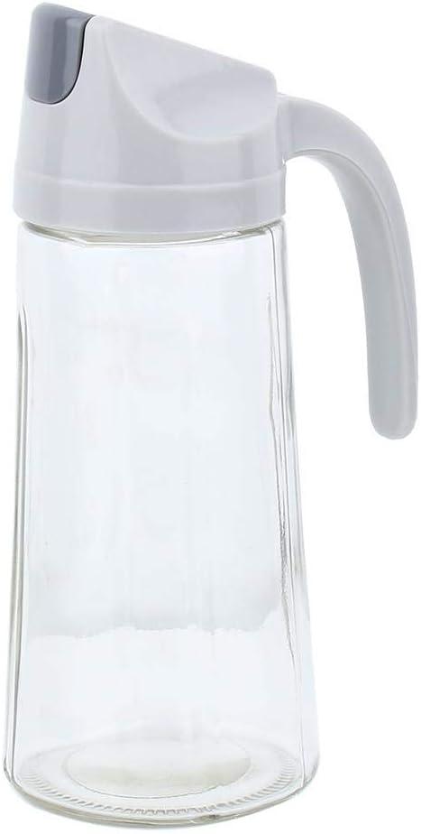 bouteille de vinaigrette r/écipients /à condiments dhuile /à ouverture automatique de qualit/é alimentaire bouchon pp blanc Distributeur dhuile sans goutte