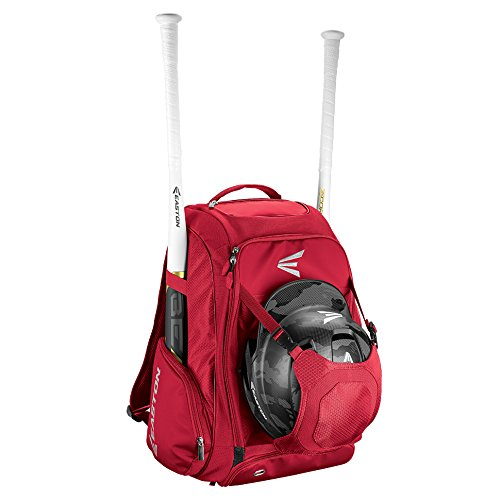 Baseball Helmet Bags - EASTON WALK-OFF IV Bat & Equipment Backpack Bag | Baseball Softball | 2019 | Red | 2 Bat Sleeves | Vented Shoe Pocket | External Helmet Holder | 2 Side Pockets | Valuables Pocket | Fence Hook