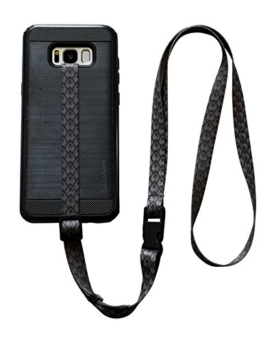 (foneleash 3 in 1 Universal Cell Phone Lanyard Neck Wrist and Hand Strap Tether (Lucky Spade 2.0))