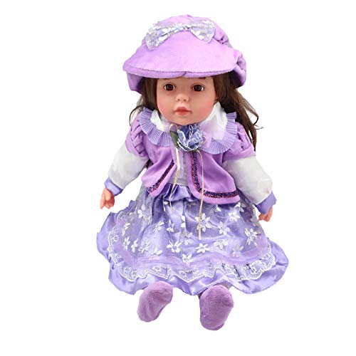 "25"" Vintage Style Sitting Dolls for Girls, Vinyl + Soft Body, Pretend Play Toy | Decor & Dolls Collection | 6 Styles w/ Blonde, Brown or Black Hair, Hat, Socks & Dress (Francesca)"