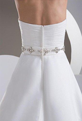 Cristallo Perline Dzdress Una Abito Abito Lungo Delle Da Linea Donne Bianco Innamorato Sposa pUxwIrp
