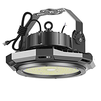 Image of Abodong 200W UFO LED High Bay Light, 26000LM 5700K 1-10V Dimmable LED Shop Garage Warehouse Lighting Alternative to 800W HPS/MH with 110-277V US Plug 8FT AC Power Cord UL/DLC Approved