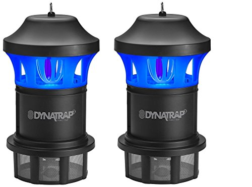 Dynatrap DT1775 Insect & Mosquito Trap, Black (Pack of 2) by Dynatrap