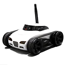 A-Parts New Mini RC I - Spy Tank Car Video Camera 777-270 WiFi Remote Control By Iphone Android White 0.3MP Photo RC Car White