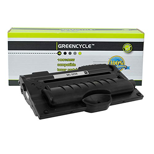 GREENCYCLE High-Yield Compatible ML-2250 ML2250 Toner Cartridge Replacement for Samsung ML-2250 ML-2251N ML-2251NP ML-2251W ML-2252W Series Printers,Page Yield Up to 5000 Pages (Black, 1 Pack) ()