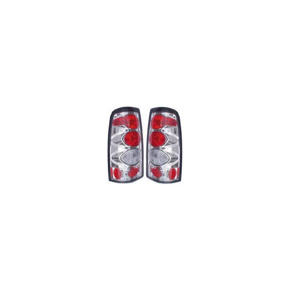99 05 CHEVY CHEVROLET SILVERADO PICKUP ALTEZZA CRYSTAL CLEAR TAIL LIGHT TRUCK, one set (left and right included), Fleetside, Version 1 (1999 99 2000 00 2001 01 2002 02 2003 03 2004 04 2005 05) CF9900C
