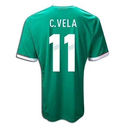 11c812168544b Adidas C. VELA #11 Mexico Home Jersey 2013