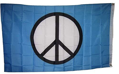 Hebel World Peace Sign Symbol Aqua SuperPoly 3x5 Flag Banner Indoor/Outdoor Grommets | Model FLG - 757 -