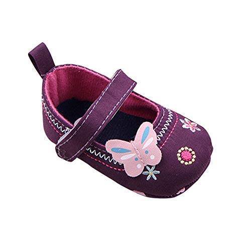 - Fashion Baby Shoes Butterfly Soft Sole Toddler Shoes - HHmei Butterfly Embroidered Toddler Shoes (11/12/13CMcm) (Purple, 11cm)