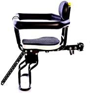 Kids Bike Seat Front Mount, Child Bike Seat with Guardrail, Bicycle Carrier for Mountain Bikes, Ladies Bicycle