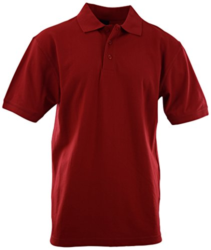 (Mens Classic Cotton Pique Polo Shirts (Many Styles and Colors to Choose from) S up 5XL (4XL, 1001-Red))