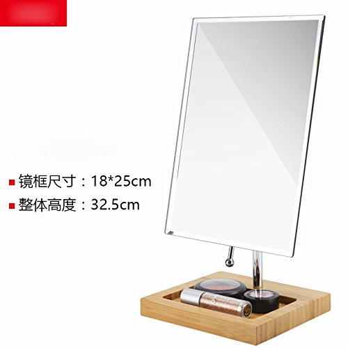Beauty Mirror Makeup Mirror Magnification Vanity Cosmetic Mirrors Shaving Mirror High-Definition Single-Sided Make-Up Mirror Square Desktop Princess Mirror Bedroom Table Dressing Mirror 14×24Cm well-wreapped