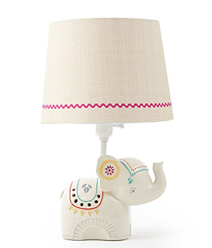 Levtex Home Baby Zahara Lamp Base and Shade, (Elephant Base)