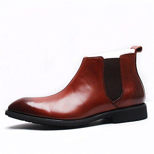 Winter Herbst Mode kurze Stiefel klassische Casual Leder Herrenschuhe brown