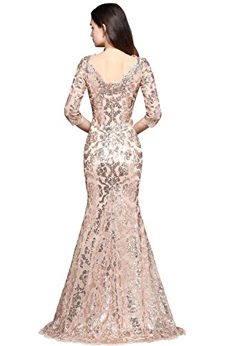 Women's Mermaid Mother Of The Bride Dresses Maxi Long Dress(Champagne,Size 14)