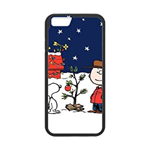 Charlie Brown and Snoopy iPhone 6 4.7 Inch Cell Phone Case Black SH6132060