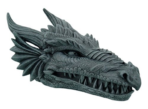 Design Toscano Stryker The Smoking Dragon Gothic Incense Burner Box Statue, 10 Inch, Polyresin, Grey Stone