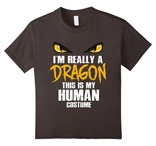 Scary School Girl Costume Diy (Kids Funny Scary Dragon Costume Halloween T-Shirt 6 Asphalt)