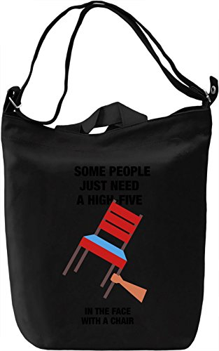Some people just need a high-five Borsa Giornaliera Canvas Canvas Day Bag| 100% Premium Cotton Canvas| DTG Printing|
